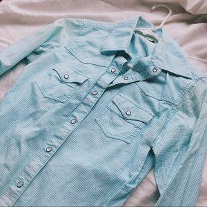 Light Blue Wrangler Button Up